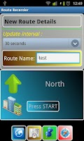 Screenshot of Route Recorder