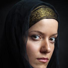 Noli me tangere by Maxim Malevich - People Portraits of Women ( girl, woman, eastern, portrait,  )