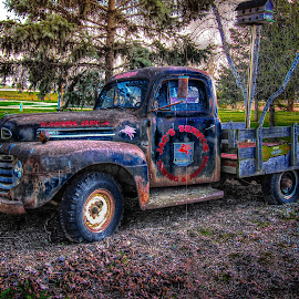 Mobil Tow Truck by Ron Meyers - Transportation Automobiles