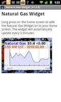 Screenshot of Natural Gas Widget