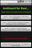 Screenshot of AndGuard for Root