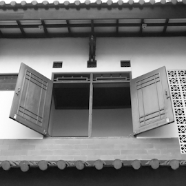 Open Window by Ricky Theopilus - Buildings & Architecture Homes ( old, windows, china )