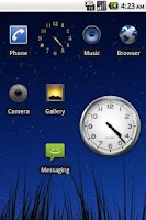 Screenshot of Tiny Gold Clock Widget