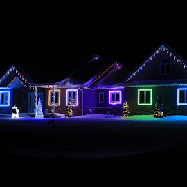 Night Lights by Kimberley Merrifield - Buildings & Architecture Homes ( winter, lighting, buildings, christmas, night, architecture, homes, Lighting, moods, mood lighting )