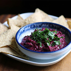 DIY Black Tahini and Beet Hummus