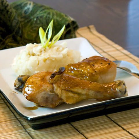 Hoisin Honey Glazed Chicken with Sesame Mashed potatoes