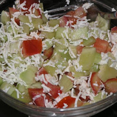 Quick and Easy Mixed Salad With Feta Cheese