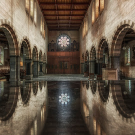 Church of Raven by Joel Arys - Buildings & Architecture Places of Worship ( raven, church, christ, dark, reflections, abandoned,  )