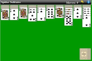 Screenshot of Spider Solitaire