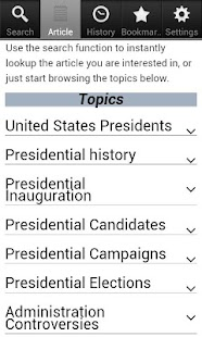 Presidential Elections Facts - screenshot
