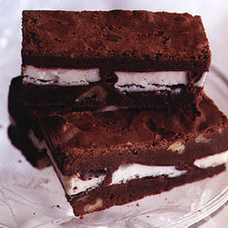 Palm Beach Brownies with Chocolate-Covered Mints