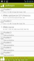 Screenshot of Dziennik Posiłków