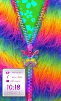 Screenshot of Rainbow Fur Zipper Lock Screen