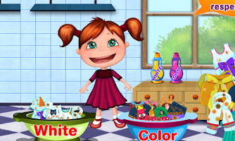 Screenshot of Laundry Girl Washing Clothes