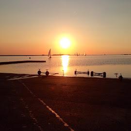 The Lake by Sean Astbury - Instagram & Mobile iPhone ( life, sunset, wirral, peace, summer, sea, lake, marina, sun )