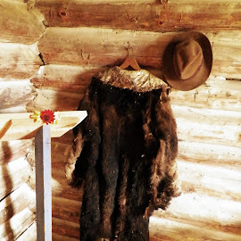 Fur Coat & Hat by Kasha Newsom - Artistic Objects Clothing & Accessories ( fur coats, country living, historical, antique, vintage clothing )