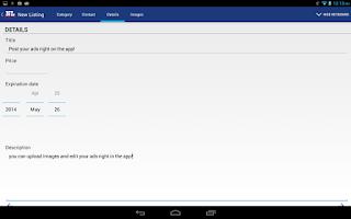 Screenshot of NL Classifieds