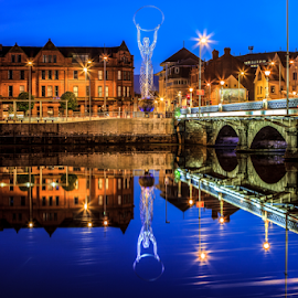 Beacon of Hope by Davy Delos Santos - City,  Street & Park  Historic Districts ( belfast city, u.k., northernireland, night, city )