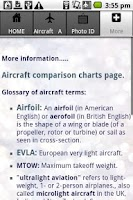 Screenshot of Aircraft Guide civil aircraft