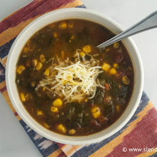 Spicy Corn and Kale Soup