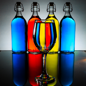 Rainbow Cocktail 2 by MIGUEL CORREA - Artistic Objects Glass ( backlit, champagne glasses, color, cocktail, glass, rainbow )