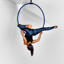 Djani by Lee Underwood - Sports & Fitness Fitness ( girl, fitness, acrobat, hoop, women )