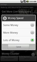 Screenshot of Bling Money Wallpaper Game