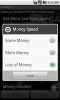 Screenshot of Bling Money Wallpaper Game
