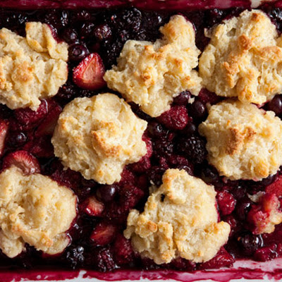 Brown Sugar Berry Cobbler