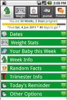Screenshot of Happy Pregnancy Ticker