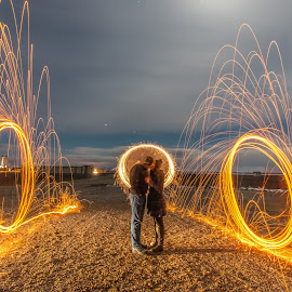 The Path of Love by Srdjan Vujmilovic - Abstract Fire & Fireworks ( canon, exposure, person, camera, land, like, landscape, nightphotography, photo, people, photography, portrait, dslr, astrography, macro, share, life, photographer, night, lonexposure, day, photoshop )