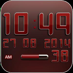 Digi Clock Widget Red Star PC Download / Windows 7.8.10 / MAC