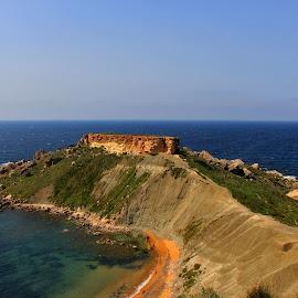 Gnejna Bay by Felix Cesare - Landscapes Beaches ( riviera, maltese, gozo, beach, travel, maltese islands, landscape, island, golden bay, traveling, gnejna bay, nature, travelling, bay, malta, summer )