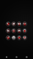 Screenshot of Black and Red - Icon Pack