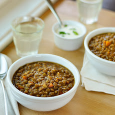Lentil Soup with Lemon Yogurt Cream
