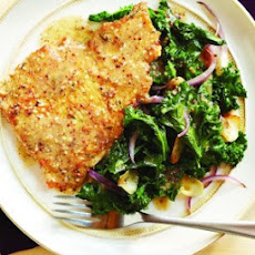 Herbed Turkey Scallopine with Lemon Dijon Kale