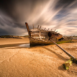 Bunbeg Ship Wreck by Peter Krocka - Transportation Boats ( ireland, seascape, boat,  )