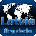 Latvia flag clocks icon