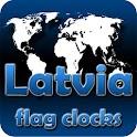 Latvia flag clocks icon