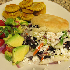 Black Bean Arepas with Citrus Slaw