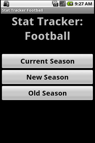 Stat Tracker: Football