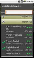 Screenshot of Offline dictionaries