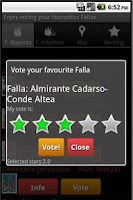 Screenshot of Fallas 2015 Valencia Vote NOW