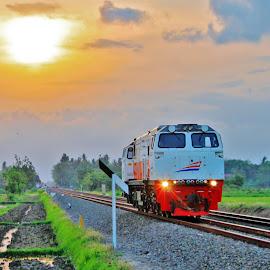 Ndas Sepur by Anton Suwarno - Transportation Trains