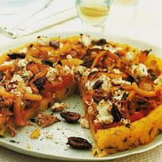 Grilled Polenta And Tuna Pizza