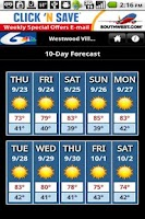 Screenshot of KPVI Weather