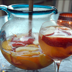 White Sangria With Peaches and Grand Marnier