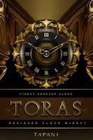 Screenshot of TORAS Luxury Clock Widget