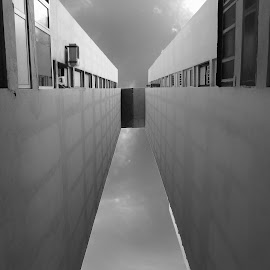 Way to Sky by Ana Longin - Buildings & Architecture Office Buildings & Hotels ( building, monochrome, sky, skyscraper, black and white, minimalism, windows, architecture, mono, wall )