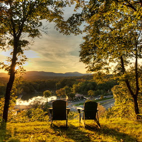 Wish You Were Here....Thomas Cole by Bruce Martin - Landscapes Sunsets & Sunrises ( sunsets, romantic, catskill )